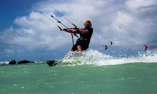 Kiteboarding In Kahului, Hawaii