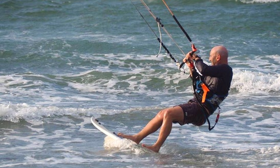 Kiteboarding In Punta Chame, Panama