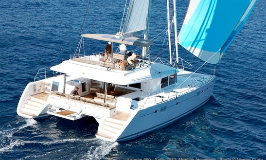 Lagoon 560 Cruising Catamaran Charter In Paros