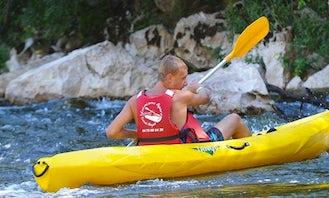 Kayak Descending Trips on Gorges de l'Ardèche