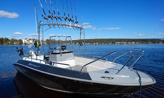 Fishing Charter and Tours in Rovaniemi onboard 18' Silver Hawk 540 Center Console