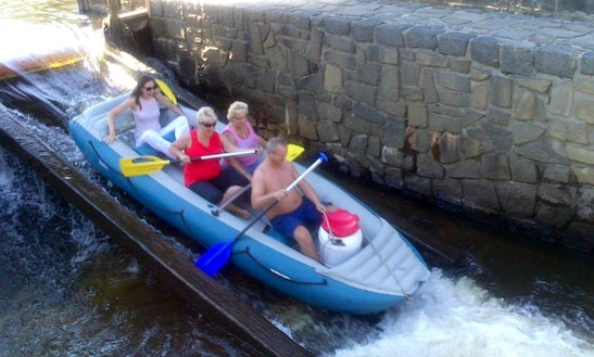 4 Persons Inflatable Rafting Trips In Prague