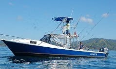 "33ft ""Encanto"" Sport Fisherman Fishing Charters in Playa Flamingo, Costa Rica"