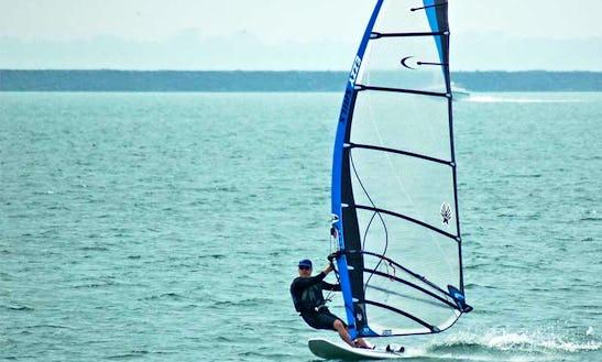 Windsurfing In Split, Croatia