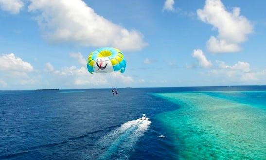 Parasailing In Halaveli, Maldives