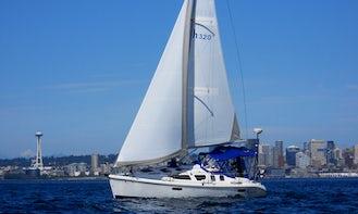 Puget Sound Sailing Adventure on 32' Hunter Sailboat