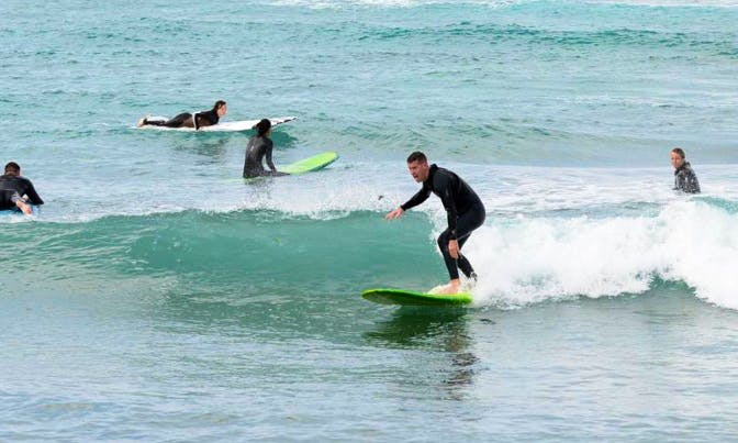 Surf Lessons in Chatan-chō, Japan