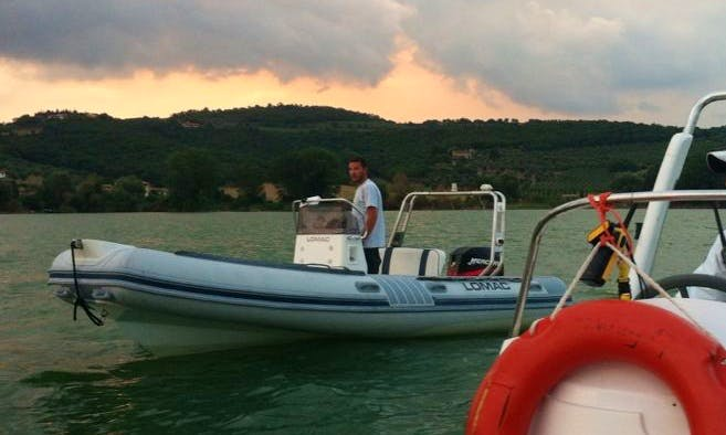 """LOMAC"" Rubber Boat Rental in Magione, Italy"
