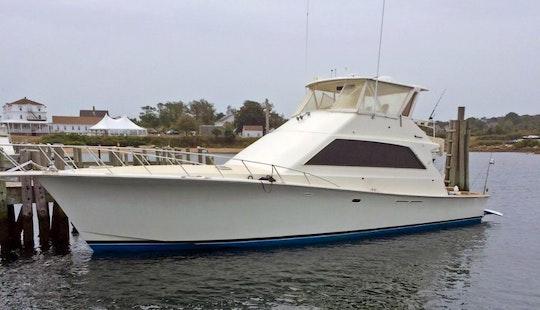 58ft Ocean Motor Yacht Rental In Newport, Rhode Island