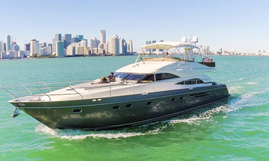 65' Princess Motor Yacht Available for Charter in Miami Beach