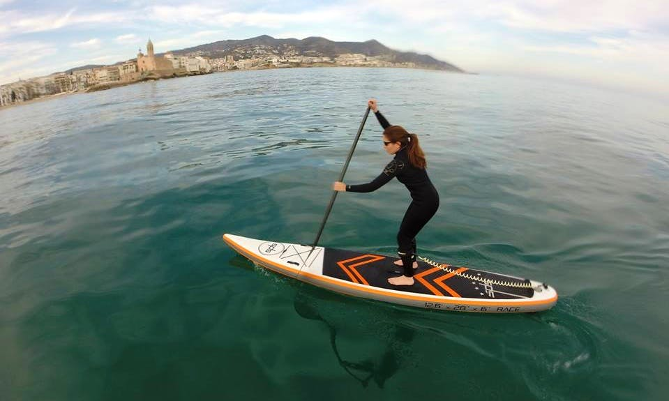 Stand Up Paddle Lessons in Sitges, Spain