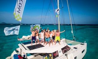 Kiteboarding Catamaran Cruise in the Caribbean, Croatia and Greece