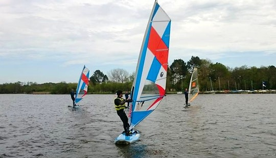 Windsurfing In Soustons, France