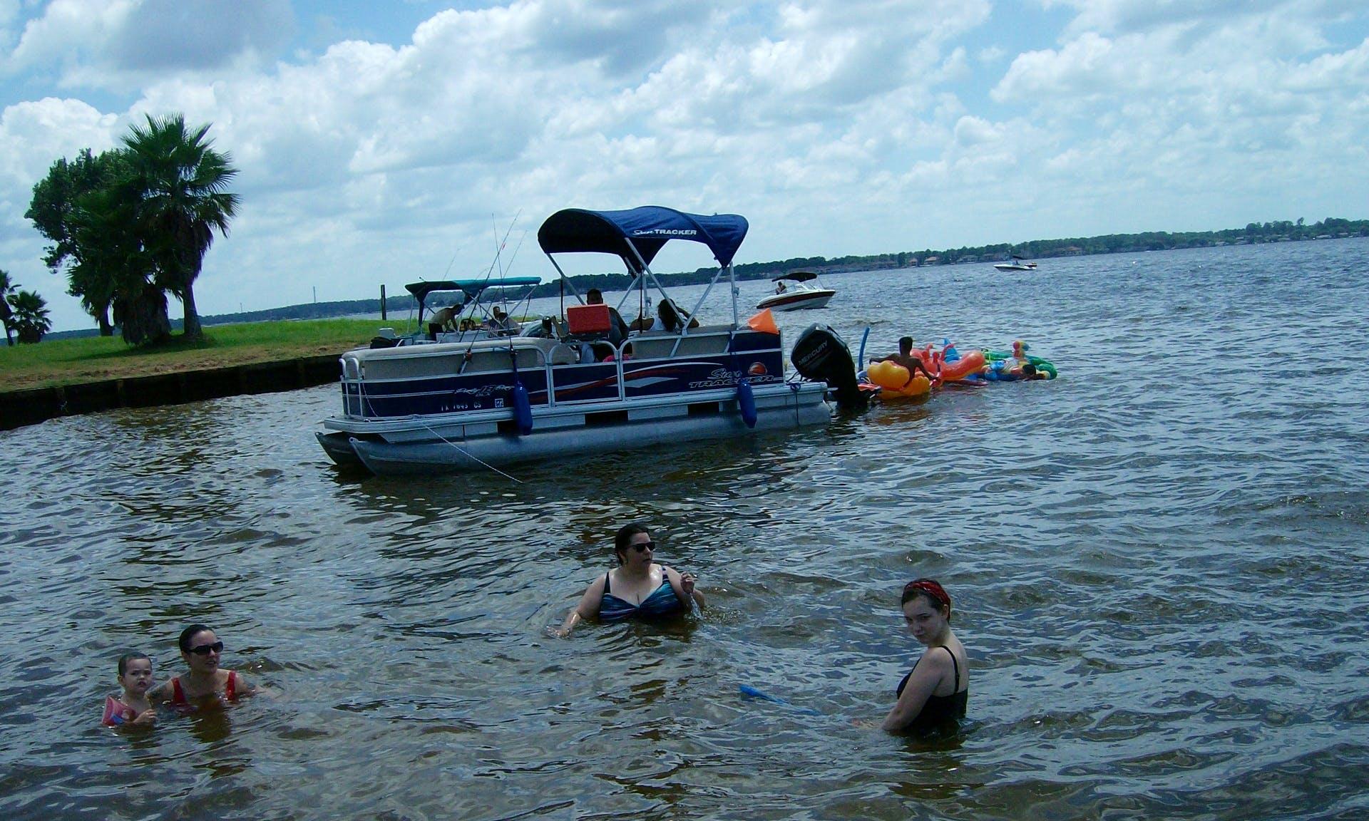24ft Godfrey Pontoon Fishing Trips in Willis, Texas