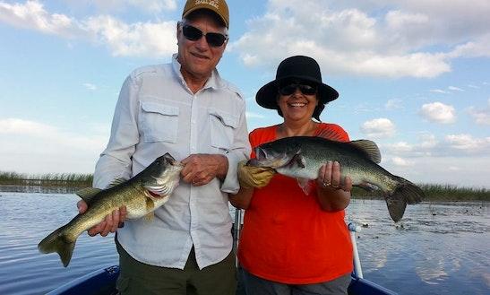 Bass Boat Fishing Charters In Okeechobee, Florida
