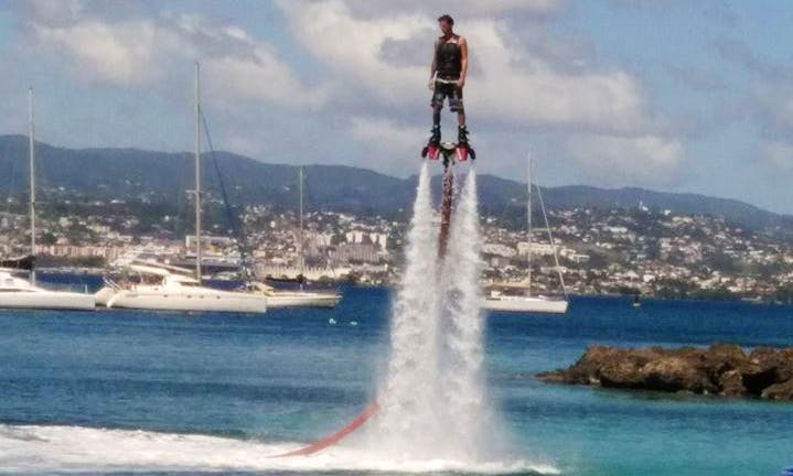 Flyboarding in Les Trois-Îlets, Martinique
