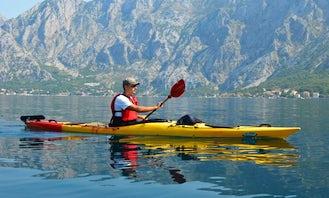 Sea Kayaking Tour for 4 Brave People at Kotor Bay in Montenegro