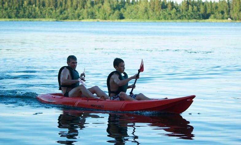 Double Kayak rental in Närpes, Finland