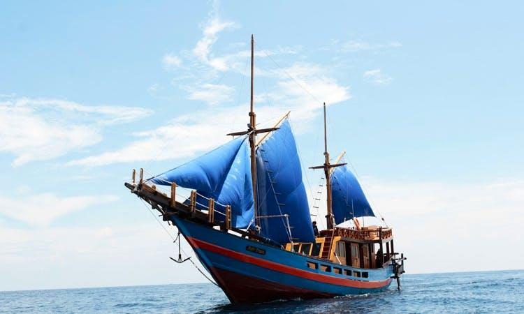 Take a voyage aboard a Sailing Schooner in Komodo, Indonesia