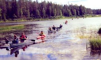 Single Kayak rental in Kuusamo, Finland