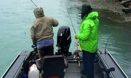 20' Deck Boat Rental in Sterling, Alaska