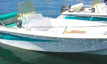 Enjoy this 17' Powerboat Rental in Carloforte, Sardinia