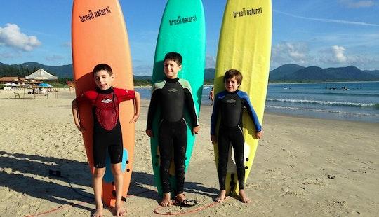 Surfing Lessons - Aula De Surf - Florianópolis, Santa Catalina, Brazil
