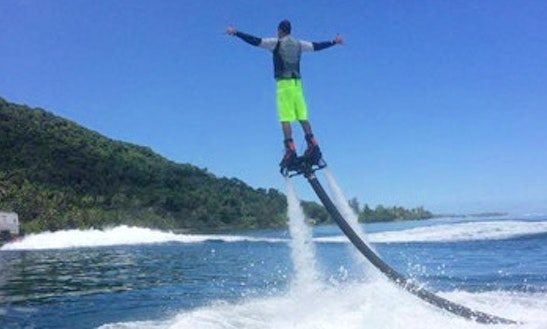 Flyboarding In Vai'are, French Polynesia