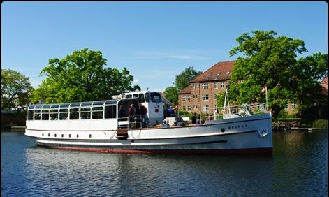 "Charter ""Heron"" Canal Boat in Silkeborg, Denmark"