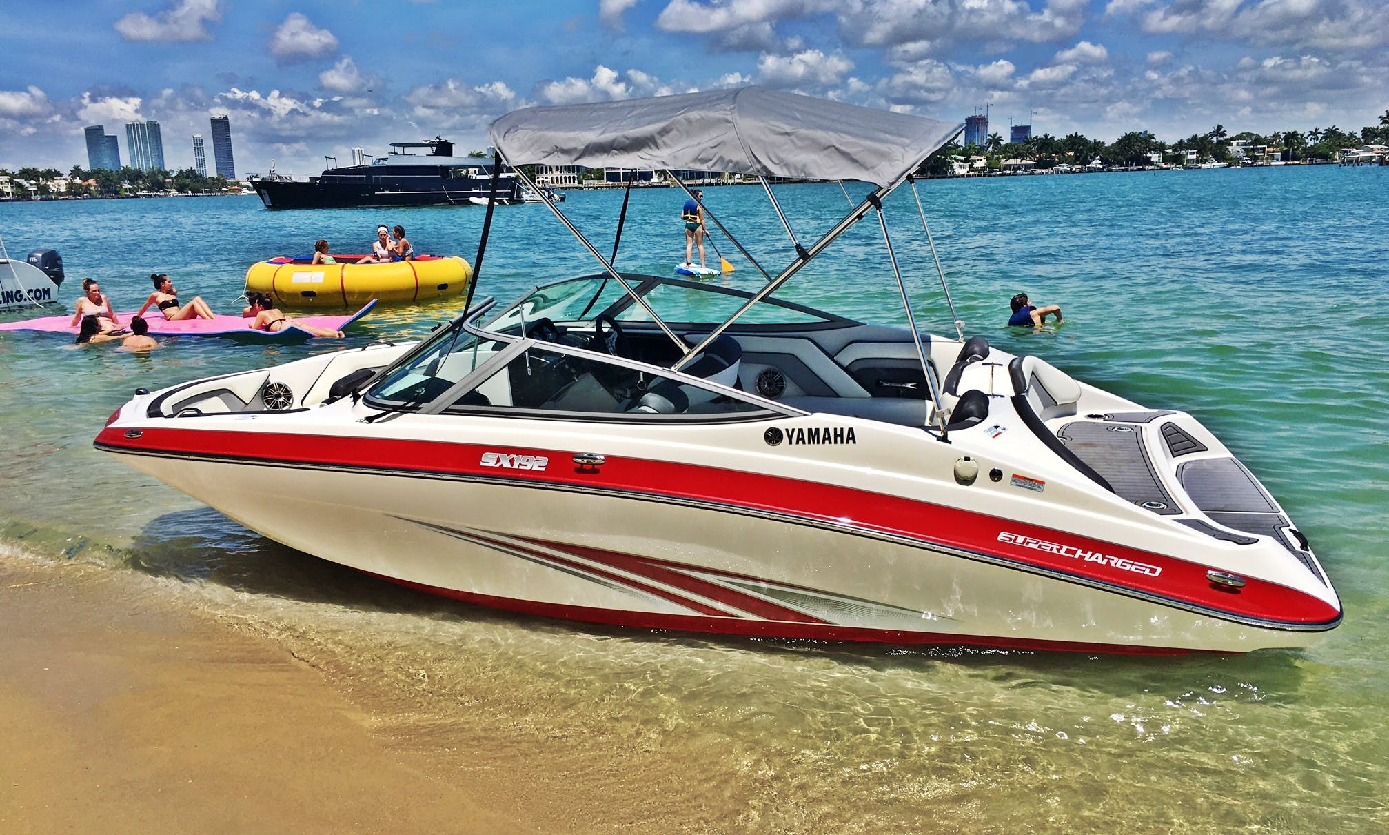 """Exotic 19"""" Supercharged Yamaha JetBoat in Miami Beach"""