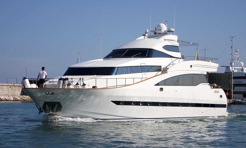 Luxury Motor Yacht sleep aboard rental in Castelldefels, Spain