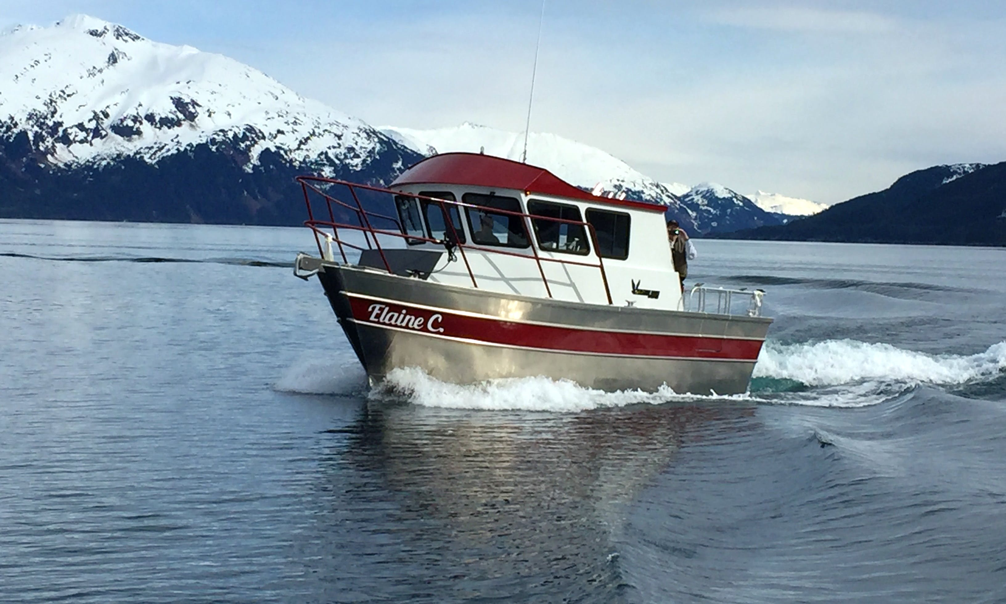 Charter the 28′ Cuddy Cabin  in Whittier, Alaska