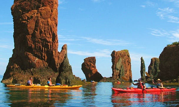 Double Kayak Tours in Saint Martins, New Brunswick, Canada