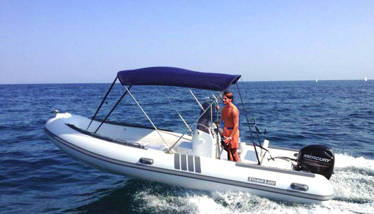 20' Rigid  Inflatable Boat Rental In Castrignano Del Capo