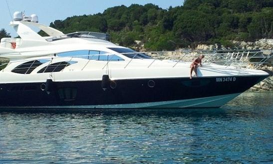 Azimut 62 Evo Power Mega Yacht Charter In Tropea