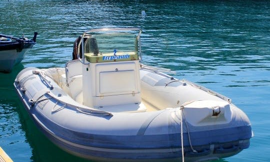 Rent 18' Gommone Clubman RIB in Tropea