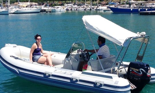 17' Gommone Coaster Power Boat Rental in Tropea