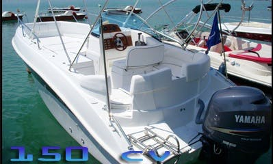 Rent and Navigate this 8 Person Motor Boat in Veyrier-du-Lac, France