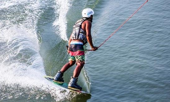 Wakeboarding In Tambon Pak Nam Pran