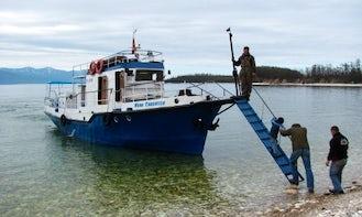 """65' """"Ivan Savateev"""" Trawler Charters in Lake Baikal, Russia"""