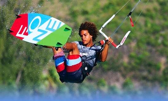 Kiteboarding In Brondby Strand, Denmark
