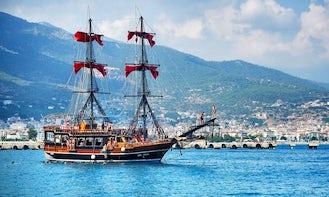 Kara Korsan Black Pirate Boat Tour in Antalya