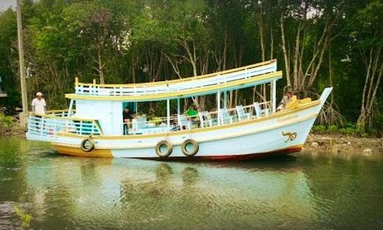 Pranburi Squid Fishing Boat In Tambon Pak Nam Pran