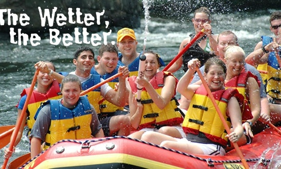 Sacandaga River Guided Rafting  In Hadley, New York