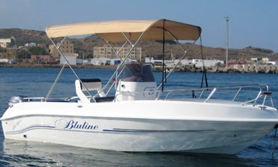 Rent Bluline 19 Powerboat In Pantelleria