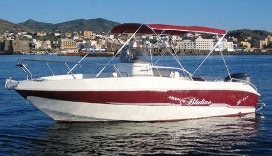 Rent Blueline 21 Motorboat In Pantelleria