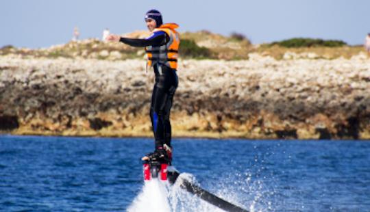 Flyboarding In Ciutadella De Menorca, Spain