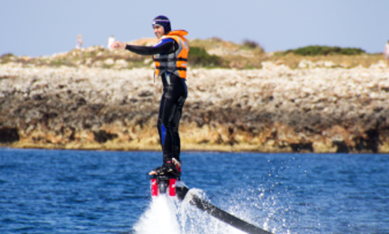 Flyboarding In Ciutadella De Menorca, Spain
