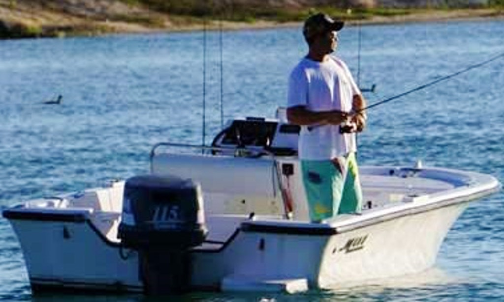 Fishing charter on 19ft mako center console in punta for Punta cana fishing charters