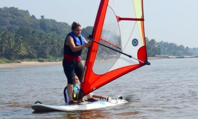 Windsurfing Lesson 150 minutes Start Course Grand Hyatt Goa, Bambolim Beach